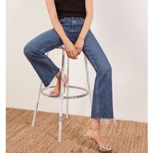 NWT Reformation • Cropped Flood Kasai Jeans